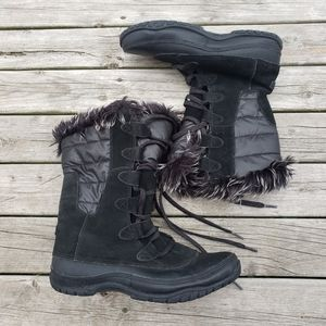 The North Face black insulated winter boots